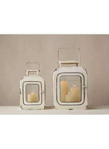 Warm Design Dekoratif 2'li Mumluk Beyaz